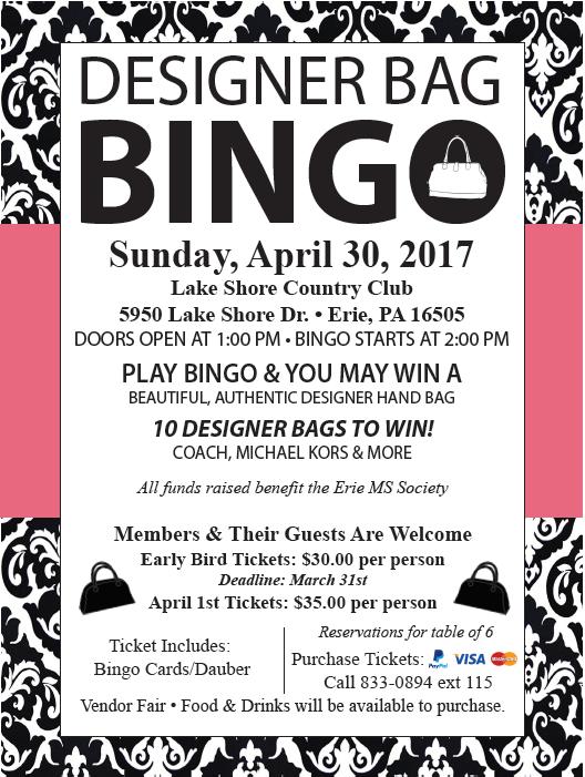 Designer Bag Bingo April 2017