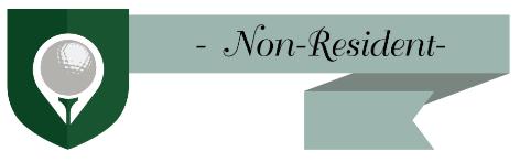 Non-Resident Golf Membership